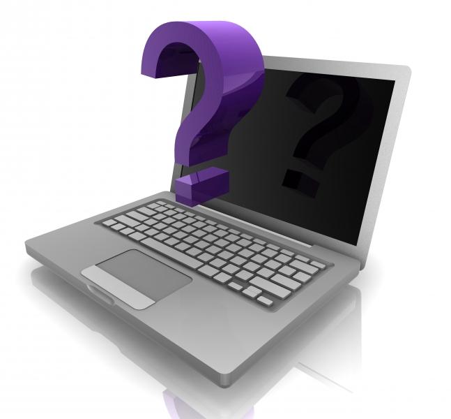 laptop och frågetecken